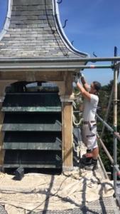 17-6-20 werken aan de klokkentoren GWK