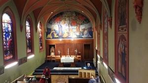 viering in Jozefkapel stadsklooster